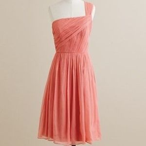J Crew One Shoulder Coral Dress
